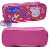 Nick Jr Peppa Pig Zippered  Pencil Case Pouch Bag - Pink