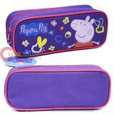 Nick Jr Peppa Pig Zippered  Pencil Case Pouch Bag - Purple