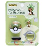 Pokemon  Chespin Figure Vent Clip Air Freshener with Pokeball