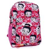 Betty Boop School Backpack Large 16in Cartoon All Over Bag