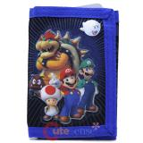 Nintendo Super Mario Kids Wallet Assorted Characters Trifold Wallet