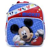 "Disney Mickey Mouse School Backpack10"" Small Toddler Bag -Mickey Stars"