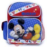 "Disney Mickey Mouse School Backpack 12"" Medium  Bag -Mickey Stars"