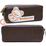 San X Rilakkuma Leather Pencil Case  Cosmetic Pouch -Rilakkuma