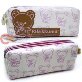 San X Rilakkuma Leather Pencil Case  Cosmetic Pouch -Korilakkuma