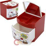 Sanrio Hello Kitty Jewelry Box Mini Organizer Storage : Apple Red