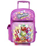 "Shopkins Large School Roller Backpack 16"" Trolley Rolling Bag"