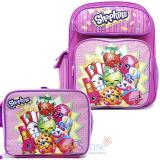 "Shopkins 12"" Small School Backpack Lunch Bag 2pc Set"