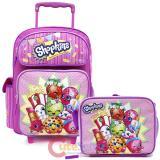 """Shopkins 16"""" School Roller Backpack Lunch Bag 2pc Set"""