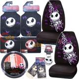 Nightmare Before Christmas Bones High Back Car Seat Covers Accessories Complete Set :10pc