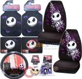 Nightmare Before Christmas Bones Low Back Car Seat Covers Accessories Complete Set :12pc