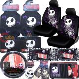 Nightmare Before Christmas Bones Low Back Car Seat Covers Accessories Complete Set :15PC