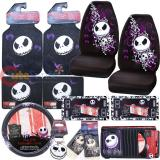 Nightmare Before Christmas Bones High Back Car Seat Covers Accessories Complete Set :13PC
