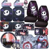 Nightmare Before Christmas Bones High Back Car Seat Covers Accessories Complete Set :14PC with Shade