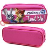 Zootopia Pencil Case Zippered Pouch Bag - Pink