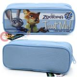 Zootopia Pencil Case Zippered Pouch Bag - Blue