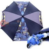 DC Comic Batman Umbrella with 3D  Motorcycle Handle - Large