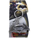 DC Comics Batman v Superman Key Chain Pewter 3D Logo Metal - Silver