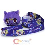 Sailor Moon Lanyard  with Luna Plush Doll Key Chain
