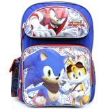 "Sonic The Hedgehog School Backpack  16"" Large Book  Bag - Sonic Boom"