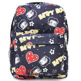 Betty Boop School Backpack Large 16in AOP Black Hearts  Bag