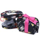 Betty Boop Makeup Cosmetic Bag Set Black Hearts