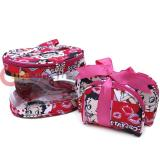 Betty Boop Makeup Cosmetic Bag Set Pink Kiss
