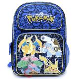 "Pokemon Large School Backpack 16"" Book Bag Ivysaur Charizard Blastoise"