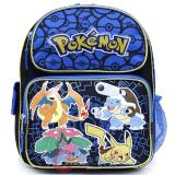 Pokemon 12in School Backpack Book Bag with Ivysaur Charizard Blastoise