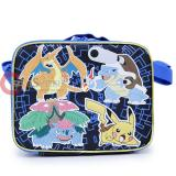 Pokemon School Lunch Bag Insulated Snack Bag with Pikachu Ivysaur Charizard Blastoise