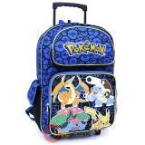 "Pokemon Large School Roller Backpack 16"" Rolling Bag Charizard Group"