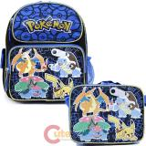 "Pokemon Pikachu 12"" School  Backpack Lunch Bag 2pc Book Bag Set - Charizard Group"