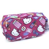Sanrio Hello Kitty Cosmetic Pouch Bag Leather Pencil Case - Bon Voyage