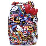 Sanrio Hello Kitty School Backpack with 3D Bow and Ears - Stickers