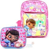 "Disney Doc Mcstuffins 16""  Large School Backpack 3D Lunch Bag 2pc Set"