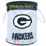 NFL Green Bay Packers Canvas Laundry Basket Bag Hamper