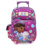 "Disney Jr. Doc Mcstuffins Large School Roller Backpack 16"" Rolling Bag- Healing Hands"