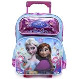 "Disney Frozen 14""  Wheeled  Backpack Medium School Roller Bag -Snow Flower"