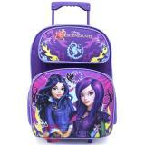 "Disney Descendants Large Wheeled Backpack 16"" School  Rolling Bag- Fairy Tale"