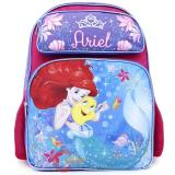 Disney Little Mermaid Ariel  School Backpack 16in Large Bag Sea Shell