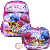 Shimmer and Shine Large School Backpack Lunch Bag Set - Flying