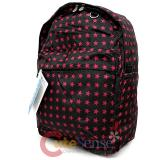 "Black Pink Stars Shcool Backpack School Bag 16"" Everest All Over Print Book Bag"