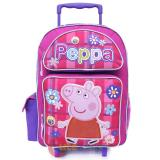 Peppa Pig  School Roller Backpack Large 16in Bag  Checker Flower