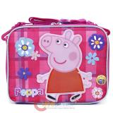 Peppa Pig School Lunch Bag Insulated  Snack Bag -  Checker Flower