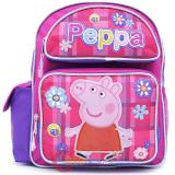 "Peppa Pig Medium School Backpack 12"" Girls Bag - Checker Flower"