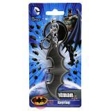 DC Comics Batman Key Chain Pewter 3D Bat Logo Metal