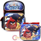 Angry Birds Movie Large School Backpack Lunch Bag 2pc Set
