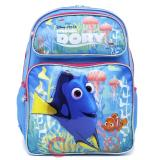 "Finding Dory Large School Backpack 16"" Girls Book Bag -Pink Coral"