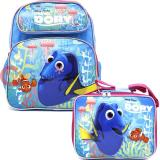 "Finding Dory  12"" Small School Backpack Lunch Bag 2pc Set Pink Coral"