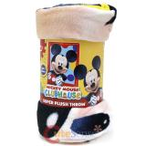 Disney Mickey Mouse Plush Microfiber Throw Blanket Twin -Frame Dots